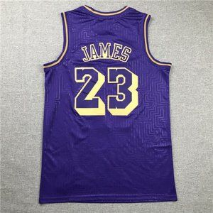 Los Angeles Lakers LeBron James Purple  Jersey